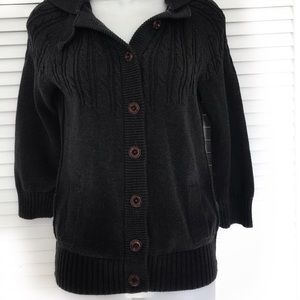 American Eagle Hooded Button sweater with pockets